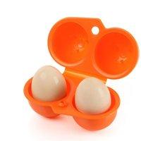 العلامة التجارية الجديدة التخييم التنزه نزهة مطبخ للمحمولة تخزين حالة حامل البلاستيك حاوية مريحة اثنين من البيض مربع 853 z2