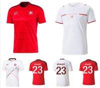 21 22 Швейцария Футбольные трикотажные изделия домой 2021 2022 Сейферович Xhaha Elvedi Akanji Rodriguez Zakaria Embolo Behrami Shaqiri Униформа футбол