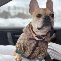 Herbstwinter-Haustierjacke Bequemer warmer Hunde-Mantel Designer-Buchstaben-Hunde Windjacke-Welpenkleidung mit Futter