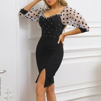 Casual Dresses Ocstrade Beaded Bandage Dress 2021 Arrival Black Bodycon Women Summer Sexy Club Party Birthday Outfits