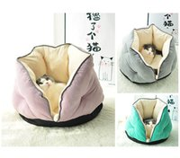 Cat Beds & Furniture Soft Cotton Fleece Blanket For Dog Puppy Four Seasons Using Warm Bed Nest Pet Sofas House Encircled Kennel