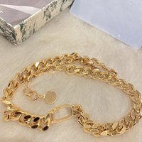 luxury designer jewelry women Choker necklaces Gold Cuban Chains for Men with D pendant stainless steel bracelet Earrings set fashion style have packaging