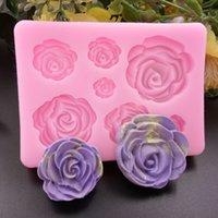 Neue Esszimmer Rose Blumen Silikonform Kuchen Schokoladenform Hochzeit Kuchen Dekorieren Werkzeuge Fondant Sugarcraft Kuchenform 2047 V2