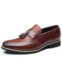 Dress Shoes 2021 Platform Oxford For Men Classic Black Brown Leather Wedding Man Footwear Business Plus Size 48