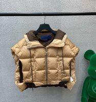 21fw مصمم أسفل سترة معطف المرأة معطف مع إلكتروني كلاسيكي أكمام القطن سترات الرجال سترة حجم S-L