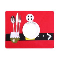Christmas And Fork Pad Lovely Cutlery Spoon Silverware Mat C...