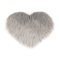 Carpets 1 Pcs Cross-border Imitation Wool Peach Heart Carpet Mat Mattress Sofa Cushion Foot Pad Plush