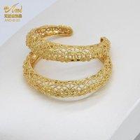 سحر أساور للنساء مجموعات مجوهرات الذهب الفاخرة أساور قابل للتعديل دبي accessoires الأصفاد النحاس الشهير الإسورة القبلية