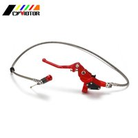 Motorcycle Brakes 1200MM Hydraulic Foldable Clutch Levers Master Slave Cylinder For Dirt Bike 125cc 140cc 250cc Vertical Engine ATV
