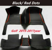 FOR Volkswagen Golf 2014-2017year Custom Car Splicing Floor Mats Waterproof Leather Wear-resistant Non-toxic Tasteless and Environmentally Friendly Foot Mats