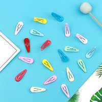 Haarspins Neue 3 cm Öl Drop Farbe BB Clip Niedlichen Baby Wassertropfen Net ROT SAME Süßigkeiten Farbe Zubehör Liu