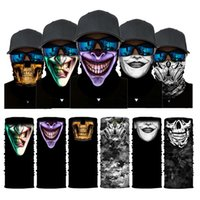 Halloween Tube Mask Bandana Printed Skeleton Face Cover Magic Scarves Thin Headwear Outdoor Running Festival Scarf