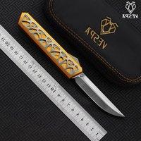 camping Dark star high Handle:7075Aluminum+TC4,Outdoor folding tools knives survival Blade:M390(Satin) VESPA EDC quality Knife Nhluj