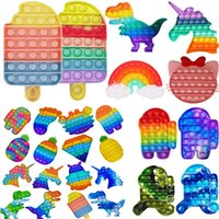 Pop It It Fidget Reliver Stress Toys Rainbow Spinge it Bobble Antistress Poppit Poppit Poppit Toy Sensory Toy per alleviare Autism DHL spedizione