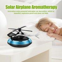 Car Air Freshener Machine Airplane Solar Rotating Helicopter Perfume Automotive Interior Supplies Drop