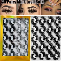20 Pairs set 25mm Mixed Styles 3D Mink False Eyelashes Natur...