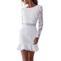 Women Hollow Out White Lace Dress 2021 Backless Sexy Body Evening Dresses Lady Party Dress Casual beach skirt khlkj