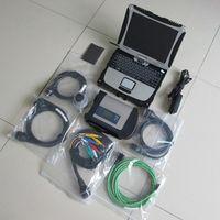 Strumento diagnostico MB STAR C4 con laptop Toughbook CF19 per la diagnosi di rotazione PC installato BENE Ultima xentry V06.2021
