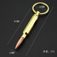 Bullet Bottle Openers Zinc Alloy Key Ring Pendant Beer Opener Keychains Bar Gadget Metal Kitchen Tools KKB7025