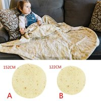 Blankets Super Soft Flannel Burrito Blanket Tortilla Biscuits Baby Crepes 3D Printed Siesta Wrap