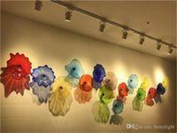 Современная лампа рот взорванная плита висит Мурано Цветочные стеклянные пластины стены искусства индивидуальный размер цвета