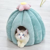 Warm Soft Sleeping Bed Pad Cactus Pet Cat Dog Nest Washable Breathable House Winter Bag Puppy Beds & Furniture