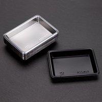 처분 할 수있는 스시 간장 일회용 식기류 접시 직사각형 샐러드 소금 조미료 용기 플레이트 레스토랑 테이크 아웃 패키지 DDA5649