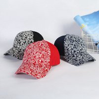 크리스 크로스 포니 테일 야구 모자 여자 씻어 페이즐리 인쇄 지저분한 롤빵 모자 트럭 모자 Cyz3133
