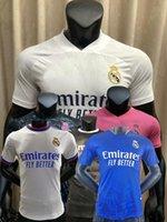 2021 2022 Real Madrid Jogador Versão Futebol Jerseys Kroos Benzema Sergio Ramos Hazard Modric 20 21 22 Camisa do Jogador de Futebol