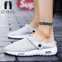 Kesmall Sandals Hommes Sports Smoor Shoes pour Hommes Séchage rapide Summer Beach Slipper Plat Soufflet Extérieur Soft Soft Pantoufles T2_Bar