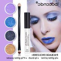 IBCCCNDC fai da te glitter Liquid Liquid Lift Shiny Lip Gloss Diamond Impermeabile Lunga durata Kit Lipgloss 4pcs / Set
