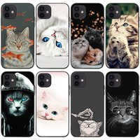 Mobile Cell Phone Cases For Iphone 13 13mini 13pro 13promax 12promax 12 12pro 12mini 11promax 11pro 11 Xsmax Xr X xs 7 8 6 Cellphone Case Animal Cartoon Cute Cat