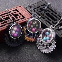 5 stücke Halskette Perle Käfig Diffusor Schmuck Vintage Medaillon Anhänger Parfüm ätherische Öl Halsketten