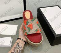 Angelina Sandalen -jacquard Bio-Denim-Slipper Steigerung dicker Sohlen Slides Luxurys Designer Hausschuhe Sommer flache Flip Flops Spike ZLH