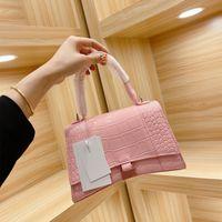 Box Pattern Women Crocodile Lady Hourglass Handbag Pink Bags Lisa Bag Folding Gift Totes Packaging Nsrli