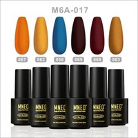 Nail Gel Polish Set Of 6Pcs Matte Coat Summer Fall Pumpkin Orange Yellow Soak Off Semi Permanent UV Varnish Manicure Art Gellac