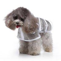 الكلب الملابس المعطف مع غطاء محرك السيارة والسلامة العاكسة للماء معطف المطر معطف الجرو (أبيض، مقاس S)