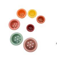 아기 스태킹 컵 재미 장난감 무지개 색 반지 타워 초기 교육 지능 키즈 장난감 중첩 링 타워 목욕 재생 HWA5787