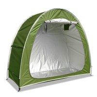 الخيام والملاجئ 200x80x165 سنتيمتر دراجة خيمة تخزين سقيفة ماء دراجة مع نافذة للتخييم في الهواء الطلق المشي لمسافات طويلة الصيد