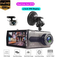 Car DVR Camera Dual Lens Full HD 1080P Dash Cam Night Vision Video Recorder G-sensor Parking Monitor Dashboard With Rear DVRs