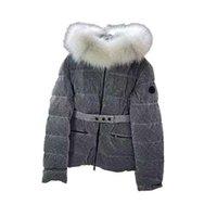 Designer Down Куртка зима женская Monclair Parka Part 90% белая утка большая реальная енота мода меховой воротник с капюшоном теплый янвен