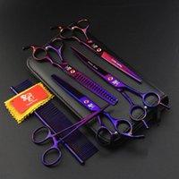 "Hair Scissors 7 ""Professional Pet Grooming Kit Hairdressing Shears Hairdresser Shave Black Handle Barber Tools"