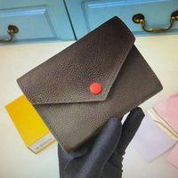M62472 M41938 Классические дамы короткий кошелек Victorine Luxurys дизайнер кожаный молния складные кошельки открытый монеты мода мода сцепление кредитной карты кошелек с коробкой