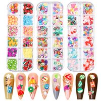 Mixed Fruit Polymer Clay Slices Nail Decorations Epoxy Resin Filler Crystal Mud Pigment Cute Cartoon Jewelry Fillings Slime Charms Strawberry Nails Art Sequins
