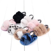 First Walkers Autumn Fashion Faux Fur Baby Girls Shoes Cute Infant Sandals Slippers Soft Sole Indoor For 0-18M