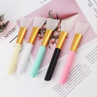 Silicone Makeup Brushes Professional Faces Cream Mud Mixing Tools Long Handle Skin Care Beauty Face Mask Brush