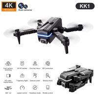 Global Drone 4K Double HD Cámara Mini Vehículo con WiFi FPV FPV PROFESIONAL PROFESIONAL DE PROFESIONAL DEFIES DE LOS JUGUETES PARA LA BATERÍA KK1 KK1