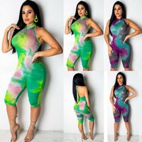 Party Midi Jumpsuit Backless Choker Halter Stretch Ropa Club Floral Playsuit Bodycon Sexy Mujeres sin mangas