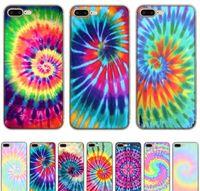 Cell Cases Wholesale Fashion Mobile Case For Phone 6 6S 7 8 Plus 11 Pro Xr X Xs Max Se Cover Tie Dye Pattern Batik Rainbow Shell Okgjr Dizuv