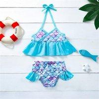 One-Pieces Summer Toddler Infant Kids Baby Girls Halter Biniki Two Piece Swimsuit Beachwear Swimwear Bathing Suit Maillot De Bain Enfant#p4